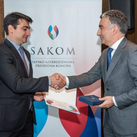 02 Dodela zahvalnice Ambasadi Azerbejdžana