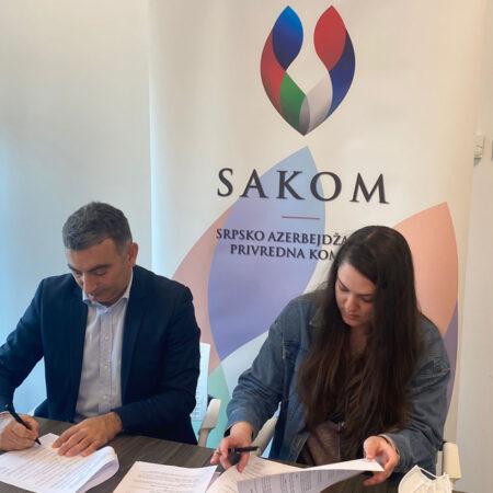 Gospodin Turkoglu, predsednik SAKOM-a i Marta Galjak