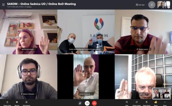 Third Online Meeting of the SAKOM Board of Directors